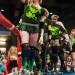 A Cherry Bomb waves to the crowd as she is introduced.Photo by Skylar Isdale
