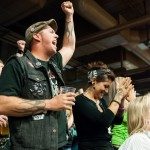 Crowd members rejoice as the Cherry Bomb's make a point at the Calvello Cup Championships.Photo by Skylar Isdale