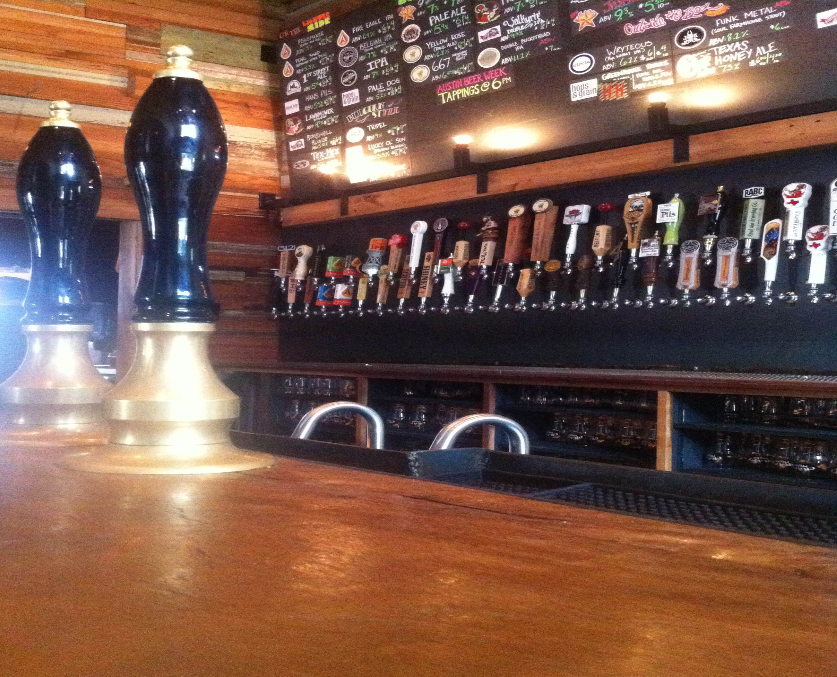 Craft Pride is an example of the growing craft beer industry in not only, Austin, but the state.  The bar has 54 beers on tap that are produced in microbreweries throughout Texas. (Photo by: Austin Powell)
