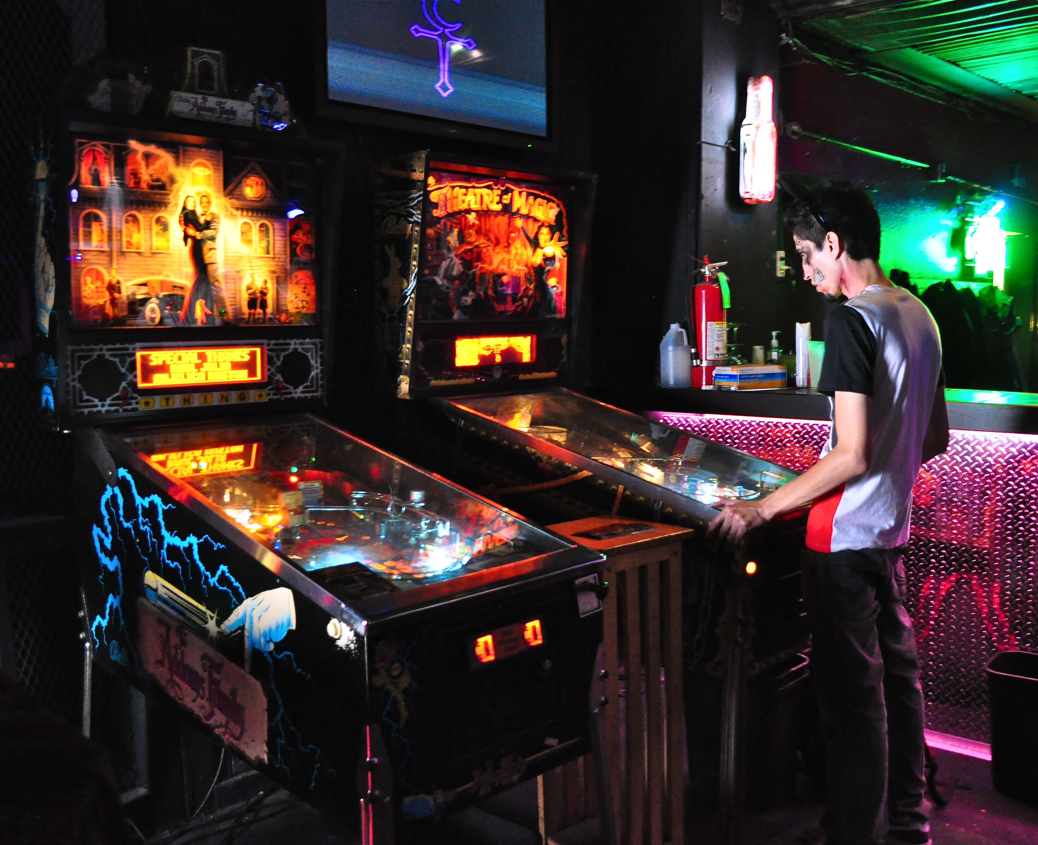 When the dance floor became too crowded, arcade games was always an option.