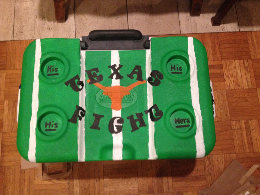 Every year, girls asked to OU weekend purchase and decorate coolers with school spirit for the weekend. Credit: Kari Counter