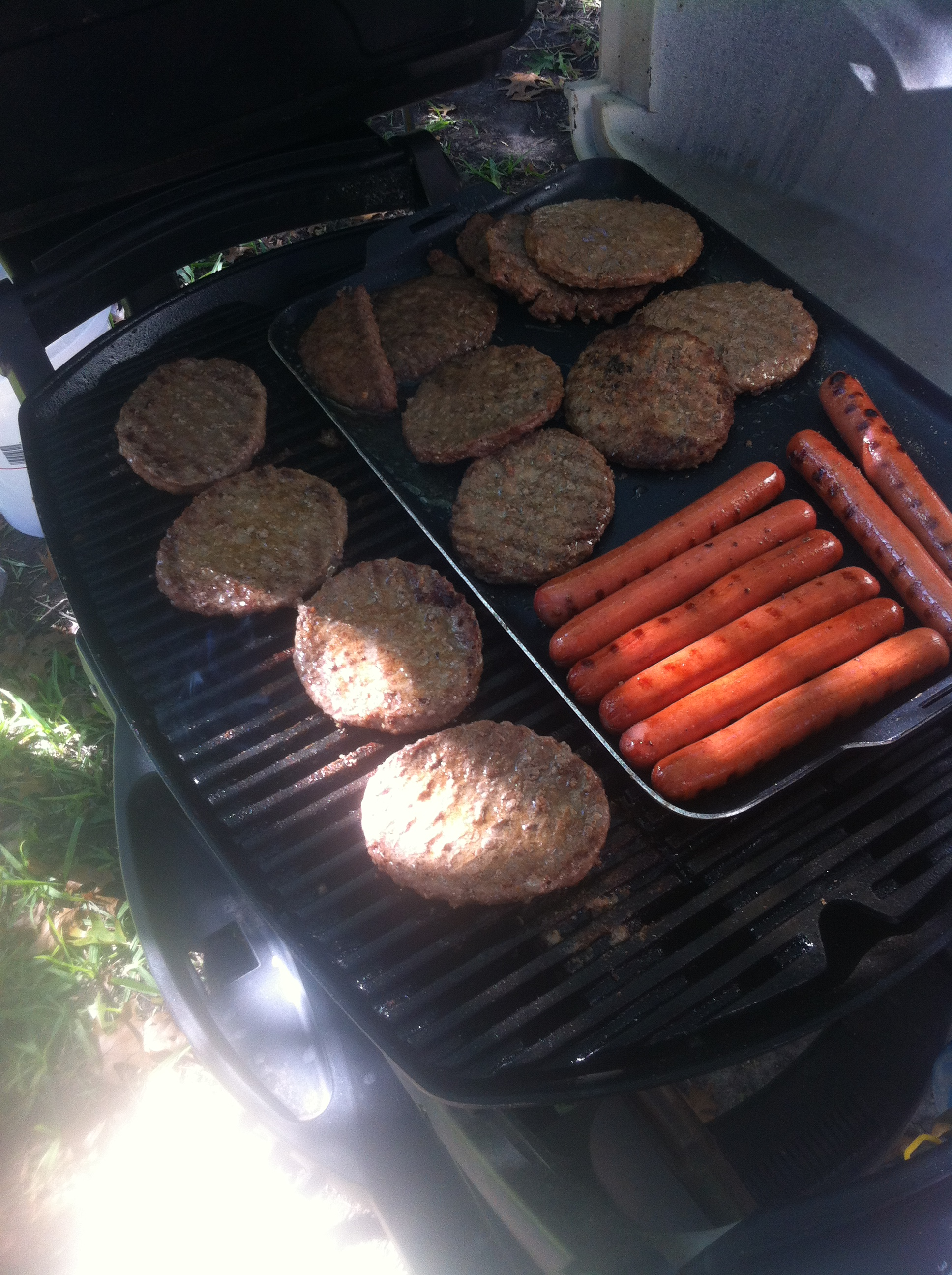 Hotdogs and hamburgers are mainstays at tailgates.