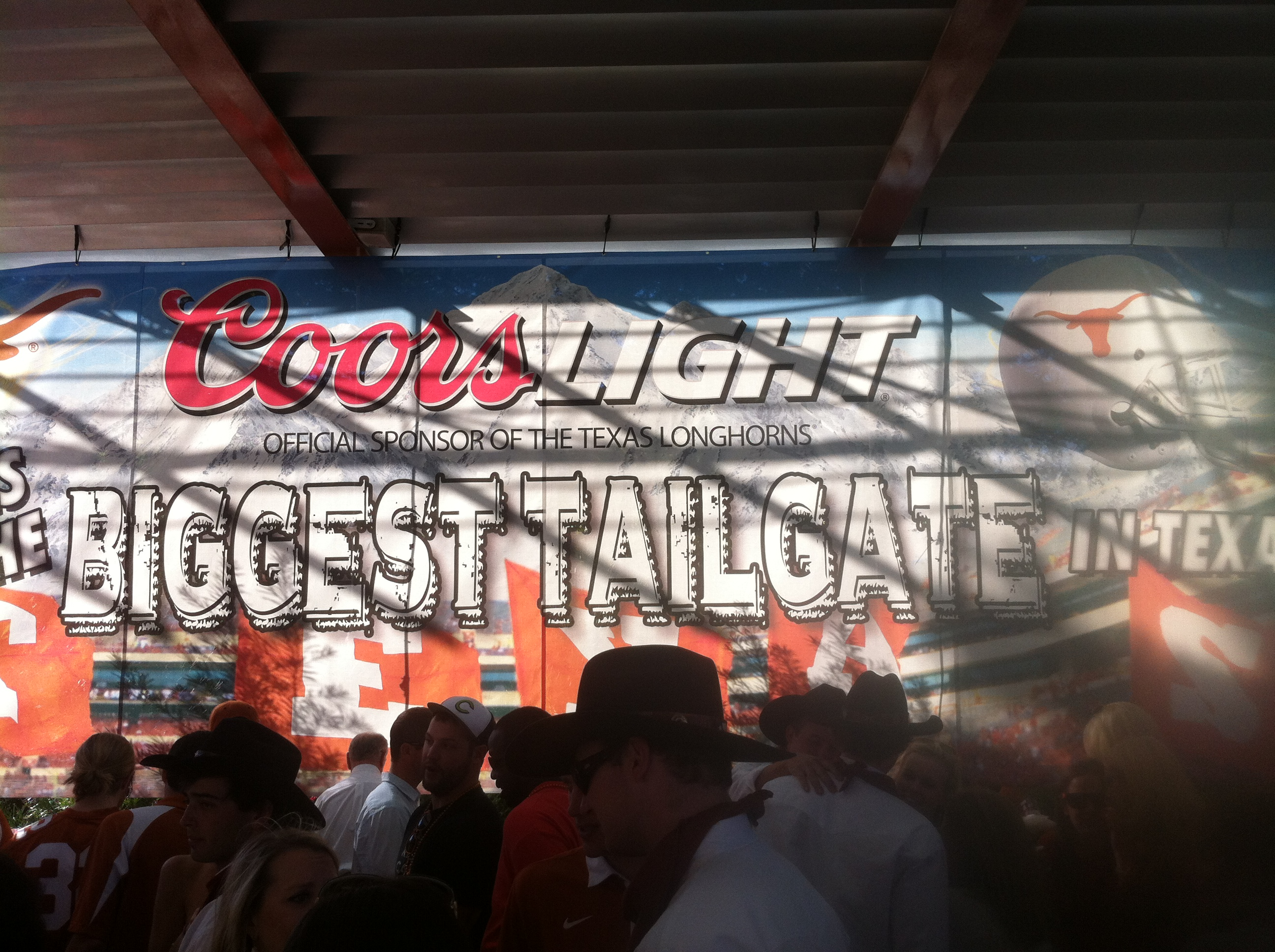 Fans came in droves to the Coors Light Tailgate next to the Alumni Center