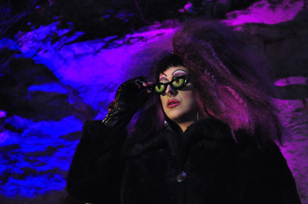 Zane Xena performing during the Drag Queen Mortal Combat. Photo by Jessica Duong