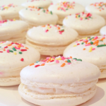 Rainbow sprinkled macaroons