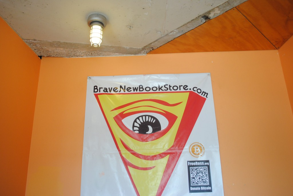 Brave New Books bookstore hosts gatherings in which people discuss the potential of Bitcoin.