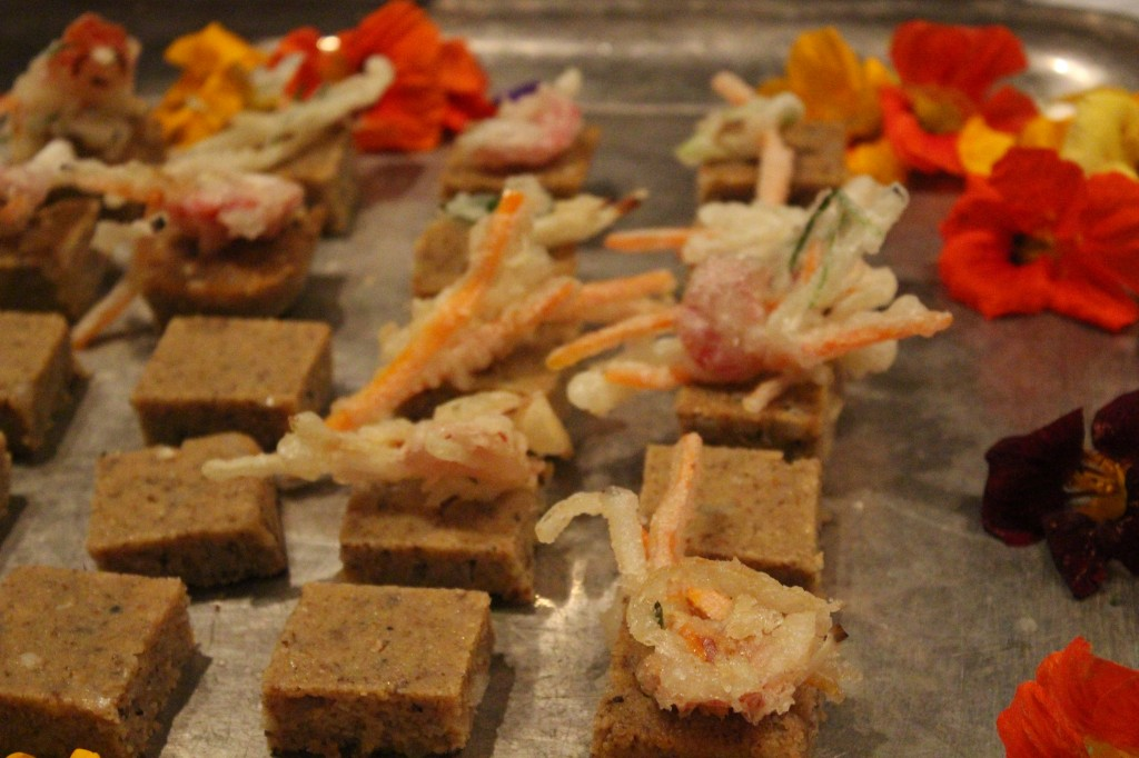 Delicacies such as this were presented during the event, made by professional and educated chefs.