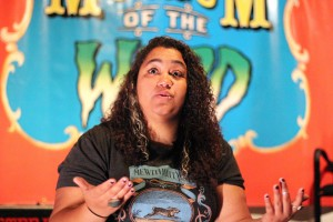 Danielle Wilson, manager at Museum of the Weird. By  Emma Banks