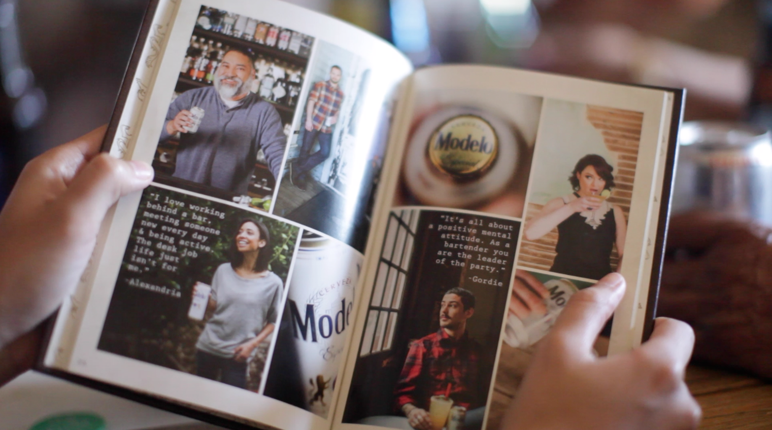 Eddie Costilla (top-left corner), owner of La Perla, is featured in a speciality cocktail book for his staple drink, the Armodelo. Photo by: Camille Garcia