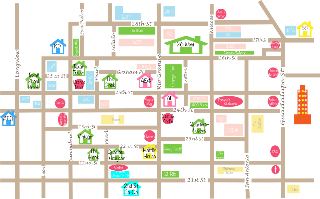 West Campus Housing Map