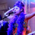 Zahira Gutierrez of Houston band Wild Moccasins sings during their Saturday set. Photo by Alex Vickery