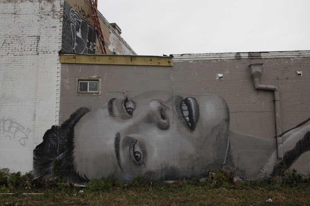 Piece created by Rone, an artist originally from Australia who is famous for doing portraits. The piece is located on the corner of 5th and Pedernales street. (Credit: Jamie Balli)