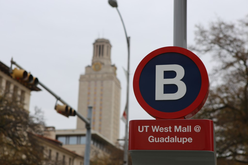 Four different stations surround the 40 Acres of the University of Texas, including two on Guadalupe Street. Photo by Landon Pederson.