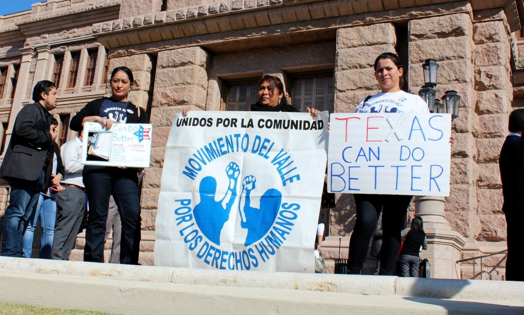 "Citizens stood on the steps of the Texas capital protesting, ""Texas can do better,"" in matters of immigration reform."