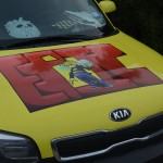 Gypsy can be seen driving the CTBR epic yellow Kia.