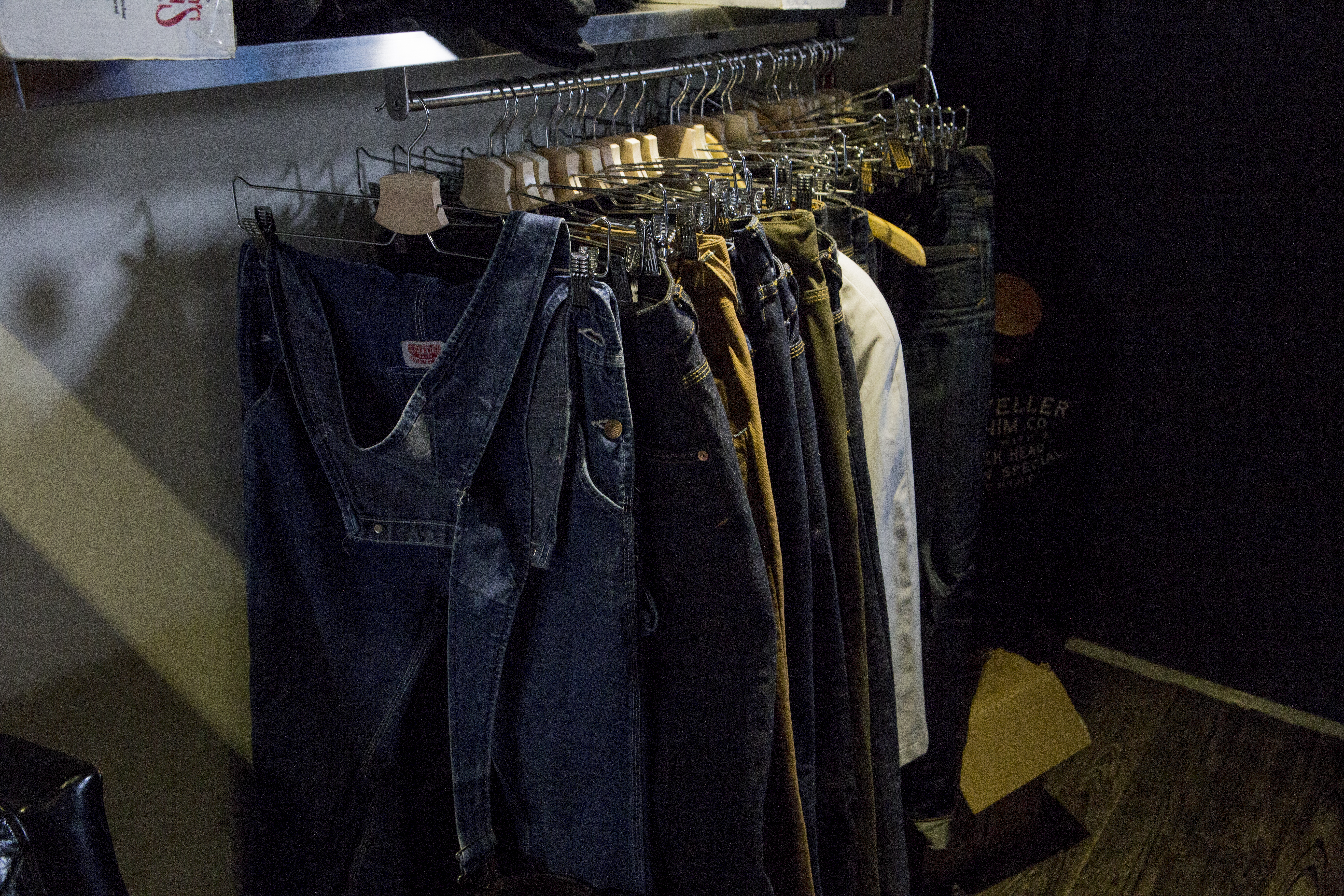 Ready to wear denim jeans.
