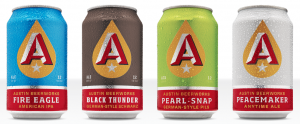 Austin Beerworks Core Four brews are brewed year-round and are the center of the success ABW is today.