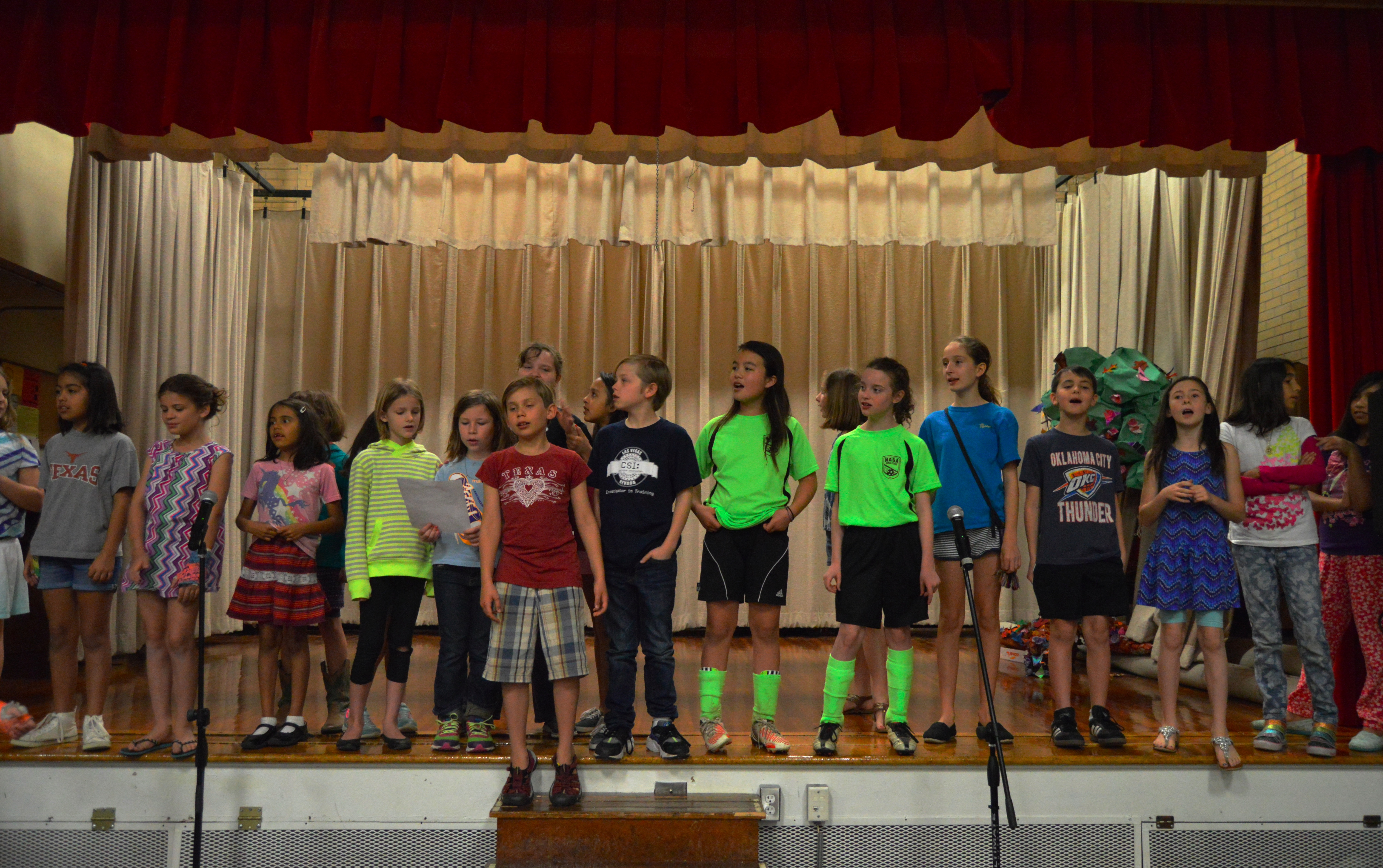 "The Ridgetop students sing ""Second Star to the Right"" during rehearsals."