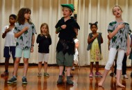 "The Ridgetop students sing ""I Won't Grow Up""."
