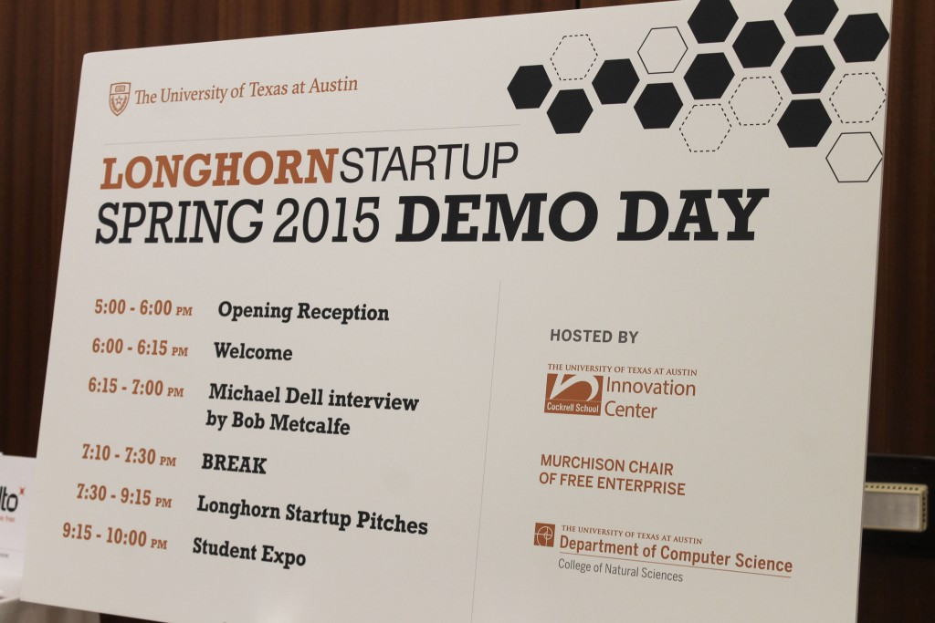 Longhorn Startup Demo Day was held in the Lady Bird Auditorium on April 30, 2015. Photo by: Rebecca Salazar