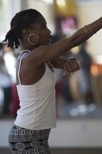 Maya Berry leads her Orisha class which uses moves that symbolize Afro-Cuban culture and legends.