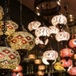 Lamps dangle from all parts of the store's ceiling, coating the shop in a gold glow. Lamps are Al-Jundi's favorite item to purchase and sell.