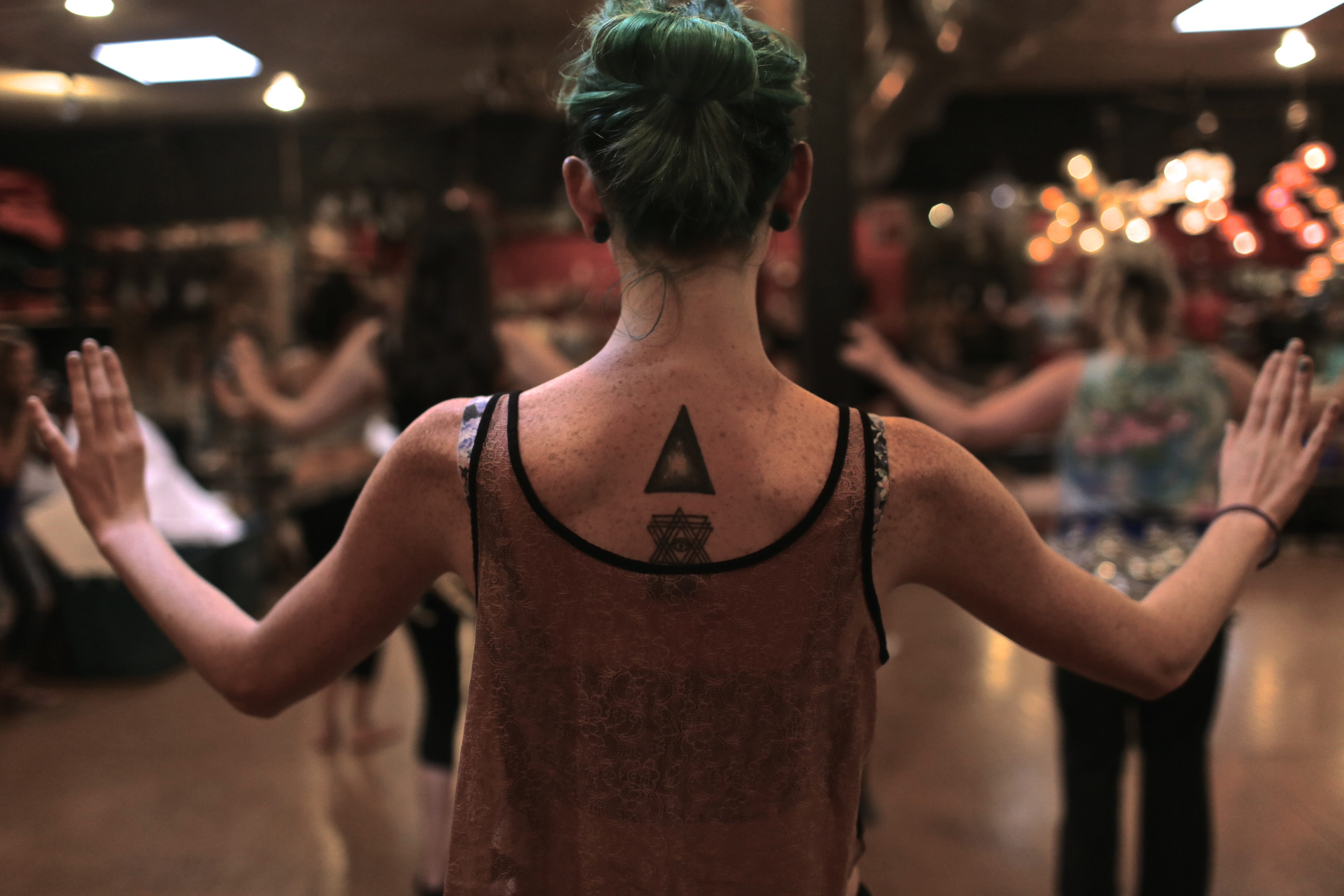 """Zein Al-Jundi says belly dancing is a woman's dance. """"I'm not saying men can't belly dance or shouldn't. Everybody can do whatever they want to do,"""" she says. """"But if the dance genre was specifically designed for a female body than it's really for women."""