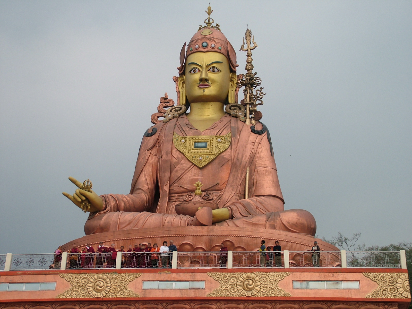 The secret on 45th lama zopa rinpoche and students at the large statue of padmasambhava in sikkim biocorpaavc Choice Image