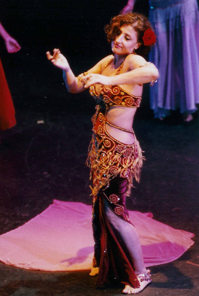 Singer and belly dancer Zein Al-Jundi performs at the Paramount Theater in Austin, Texas. Courtesy of Zein Al-Jundi.