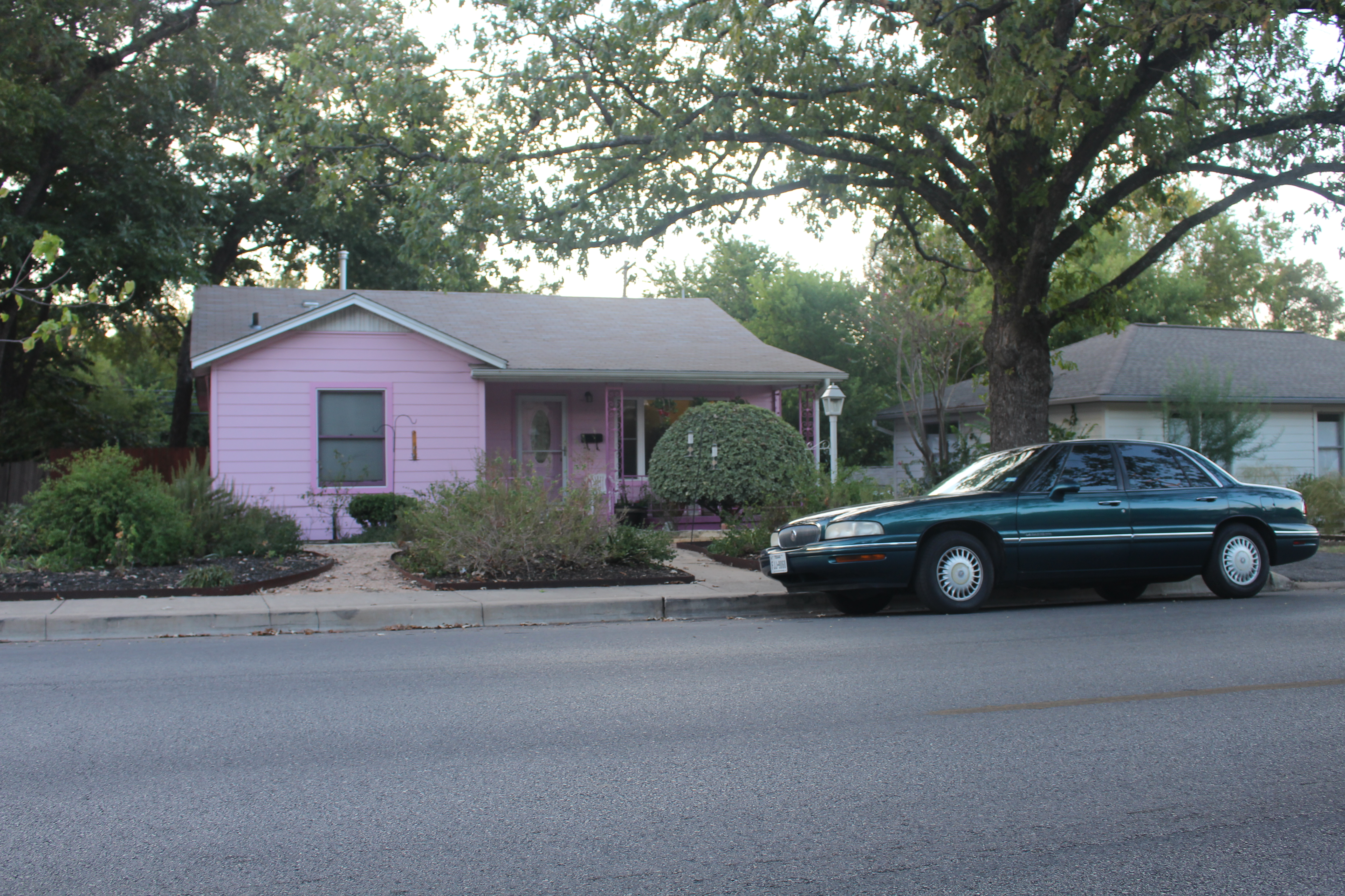 This colorful home on Cherrywood Rd. is a reminder of East Austin's changing community