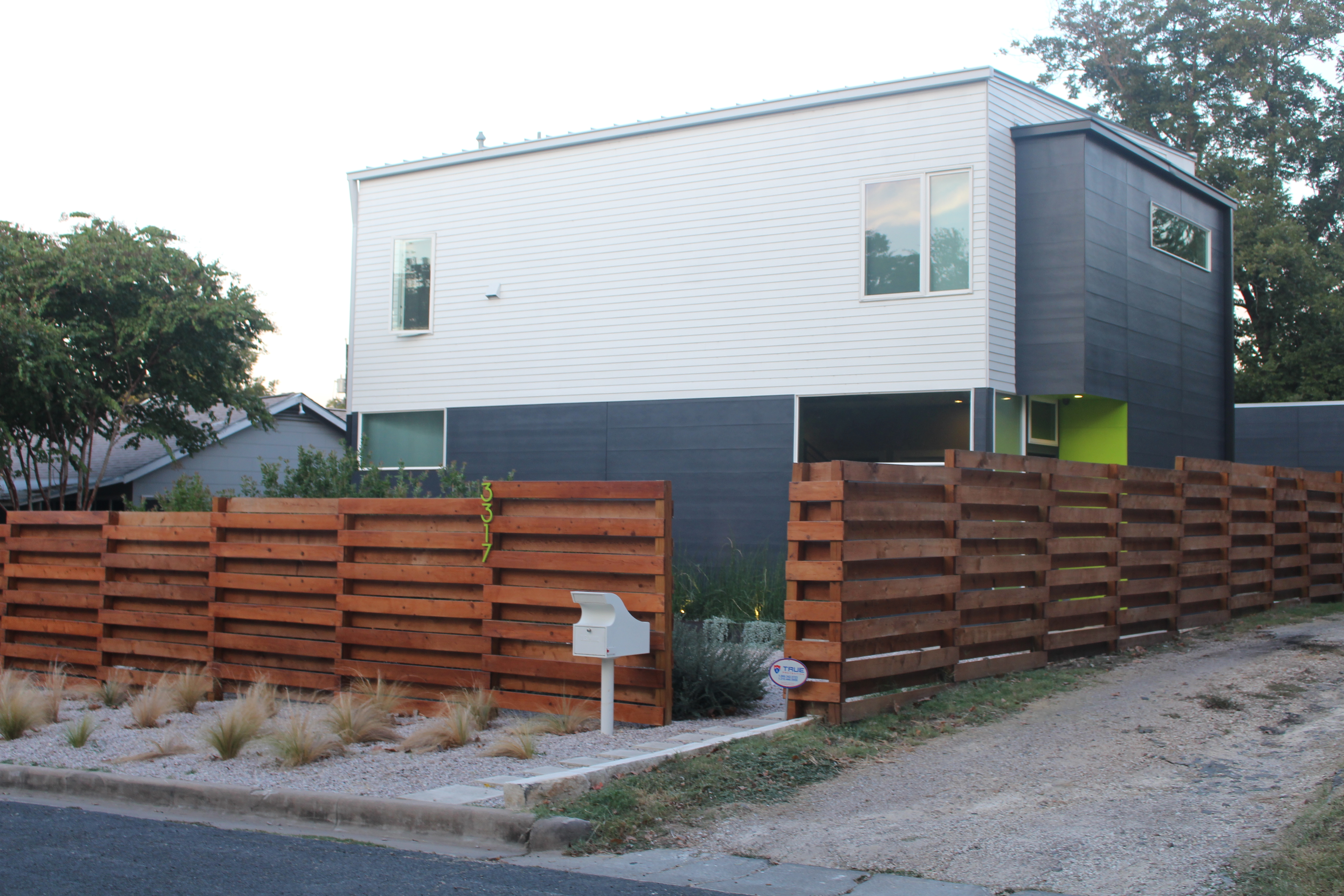 This modern home is one of many examples of gentrification in East Austin