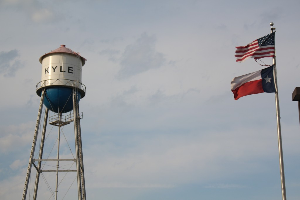One of the first water towers built in Kyle,Texas. Due to its massive growth in recent years Kyle had some struggles with its water supply.