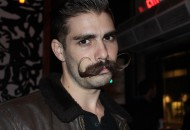 Josiah Anderson, LA national mustache winner and competitor in Handlbar's Annual Mustache Competition 2015