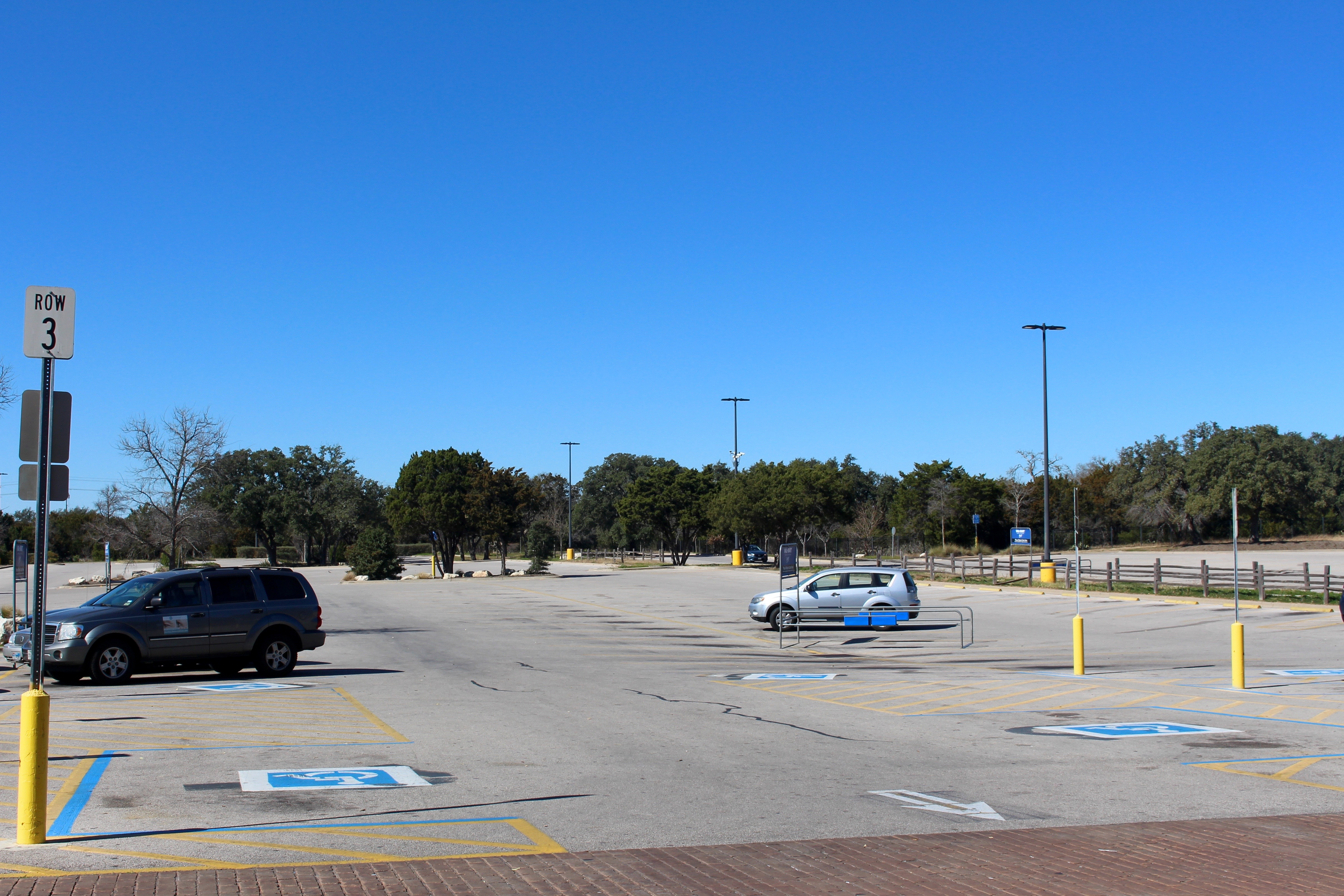 Parking lot of closed Walmart Supercenter; Austin, Texas