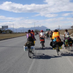 Bikes Across Borders members on their journey.