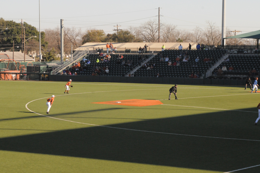 Texas Baseball hosted its annual Alumni Game, Saturday, February 6. Former Texas Baseball players, who now play professional baseball across the country, come in for the annual match up against generations of former players and the current Texas Baseball team.