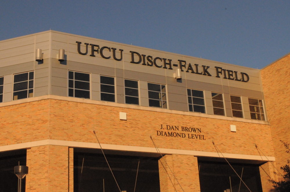 Texas Baseball has played at UFCU Disch-Falk Field since 1975. With a seating capacity of 6,756 it is one of the largest in Division I baseball.