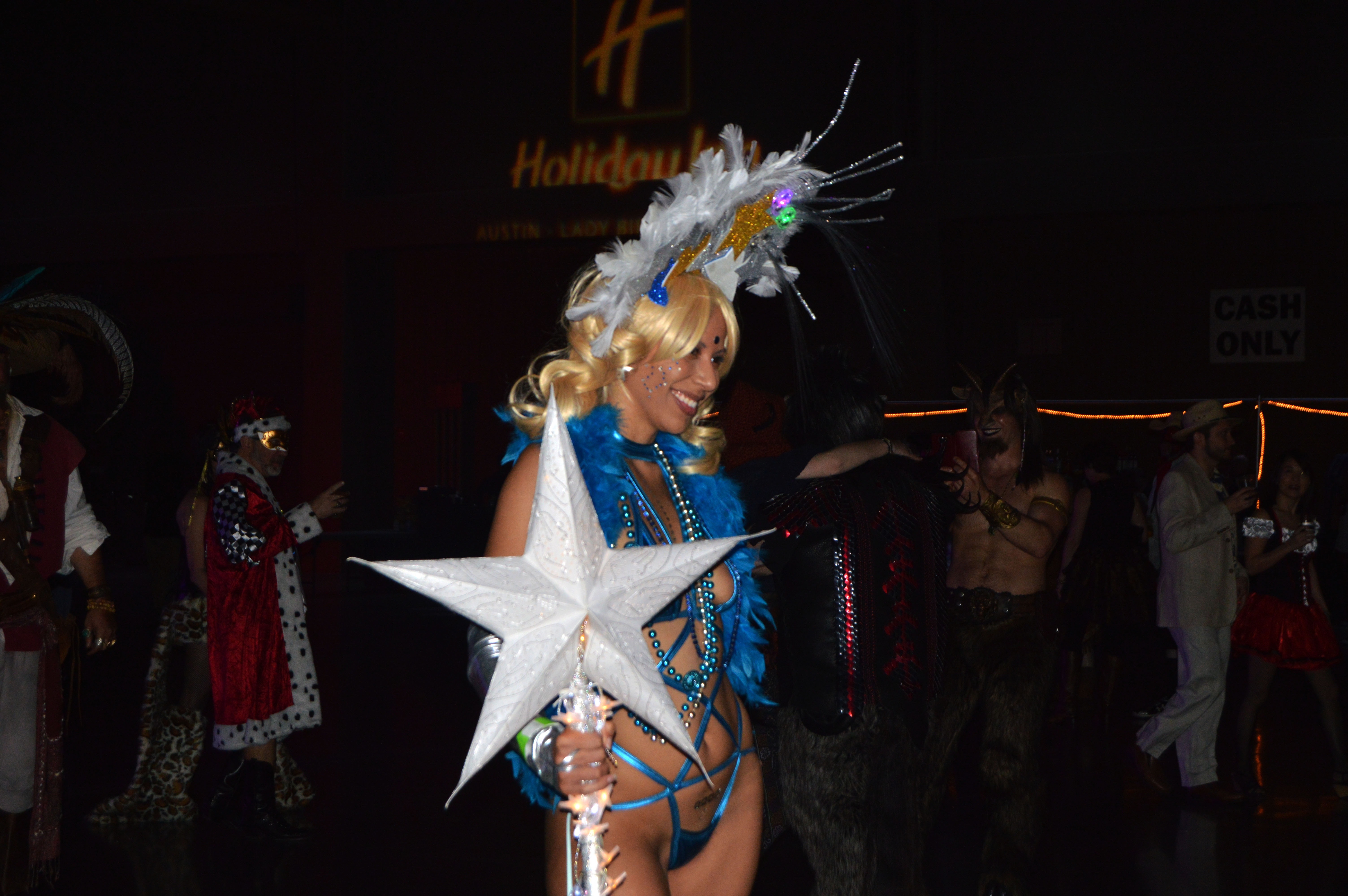 Aubrey Mulberg was scantily-clad in her Carnaval costume. This is one of her favorite events of the year and she loves to go all-out for it.