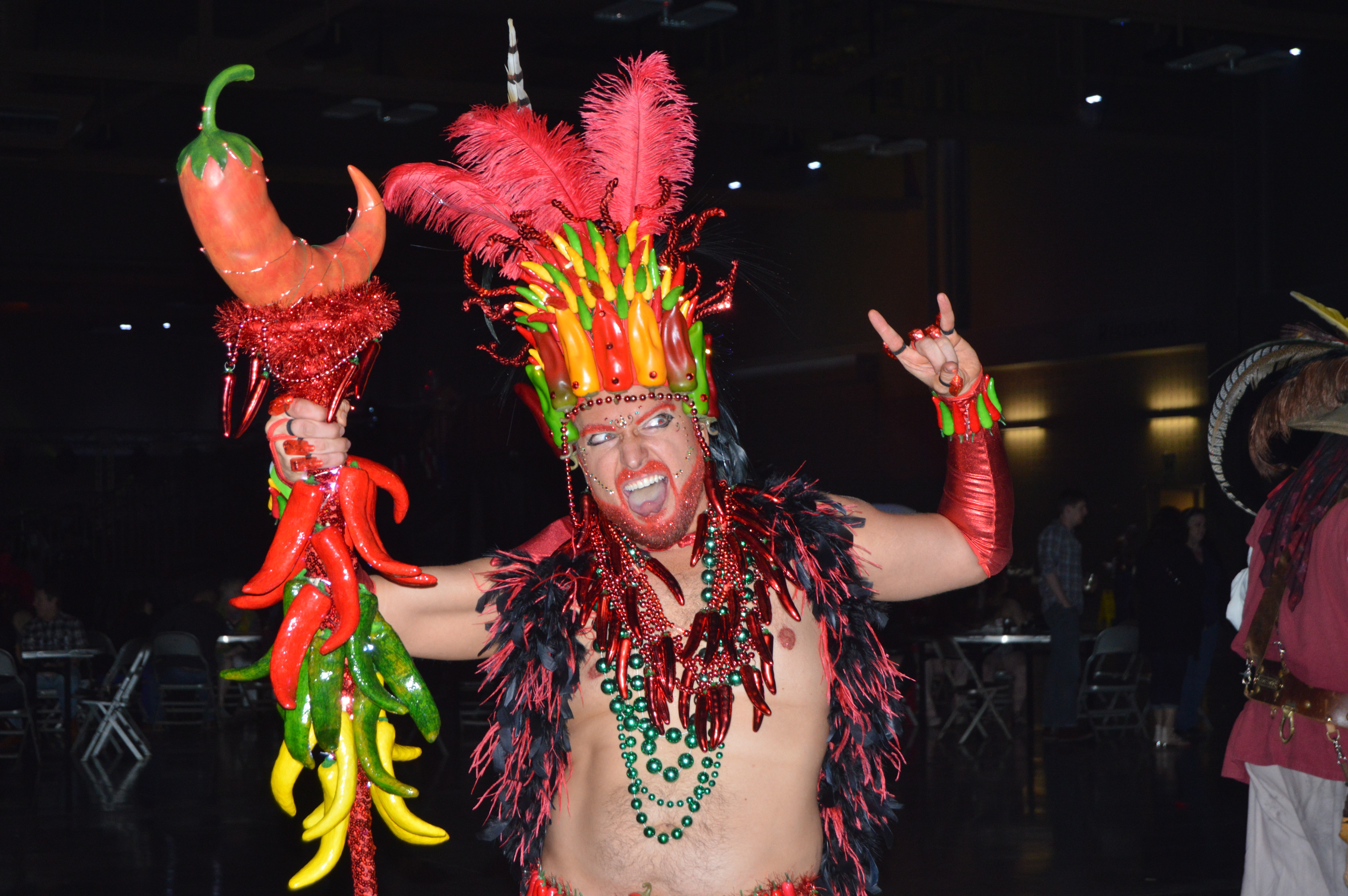 This is Nick Mulberg's third year at Carnaval.
