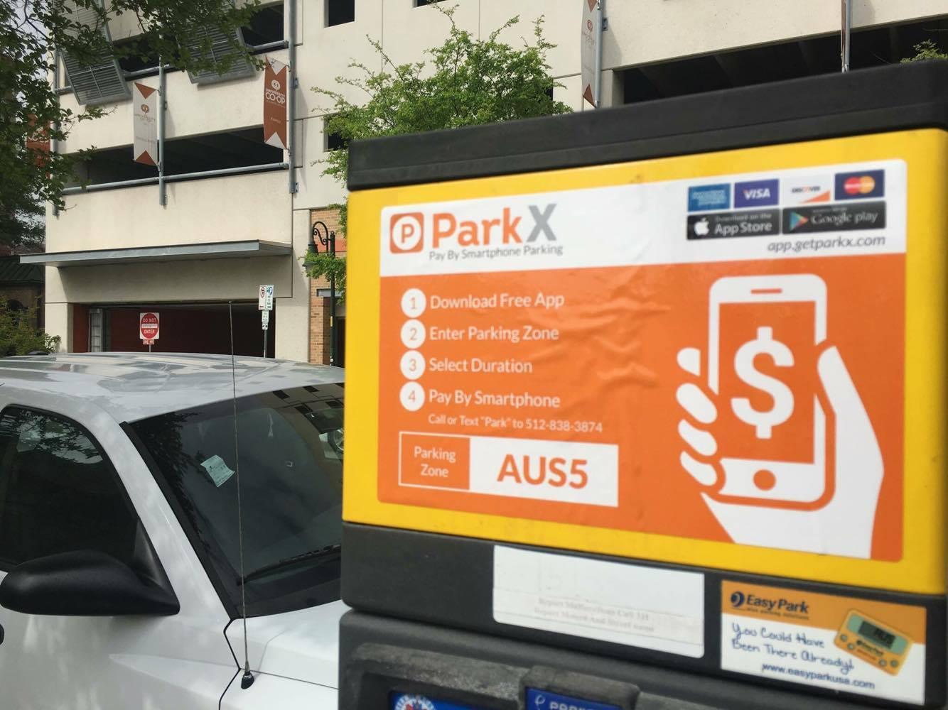 Park X App sign