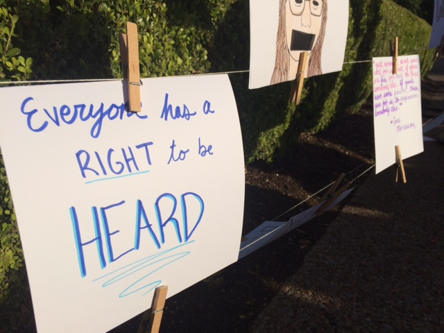 """""""Everyone has the right to be heard"""""""