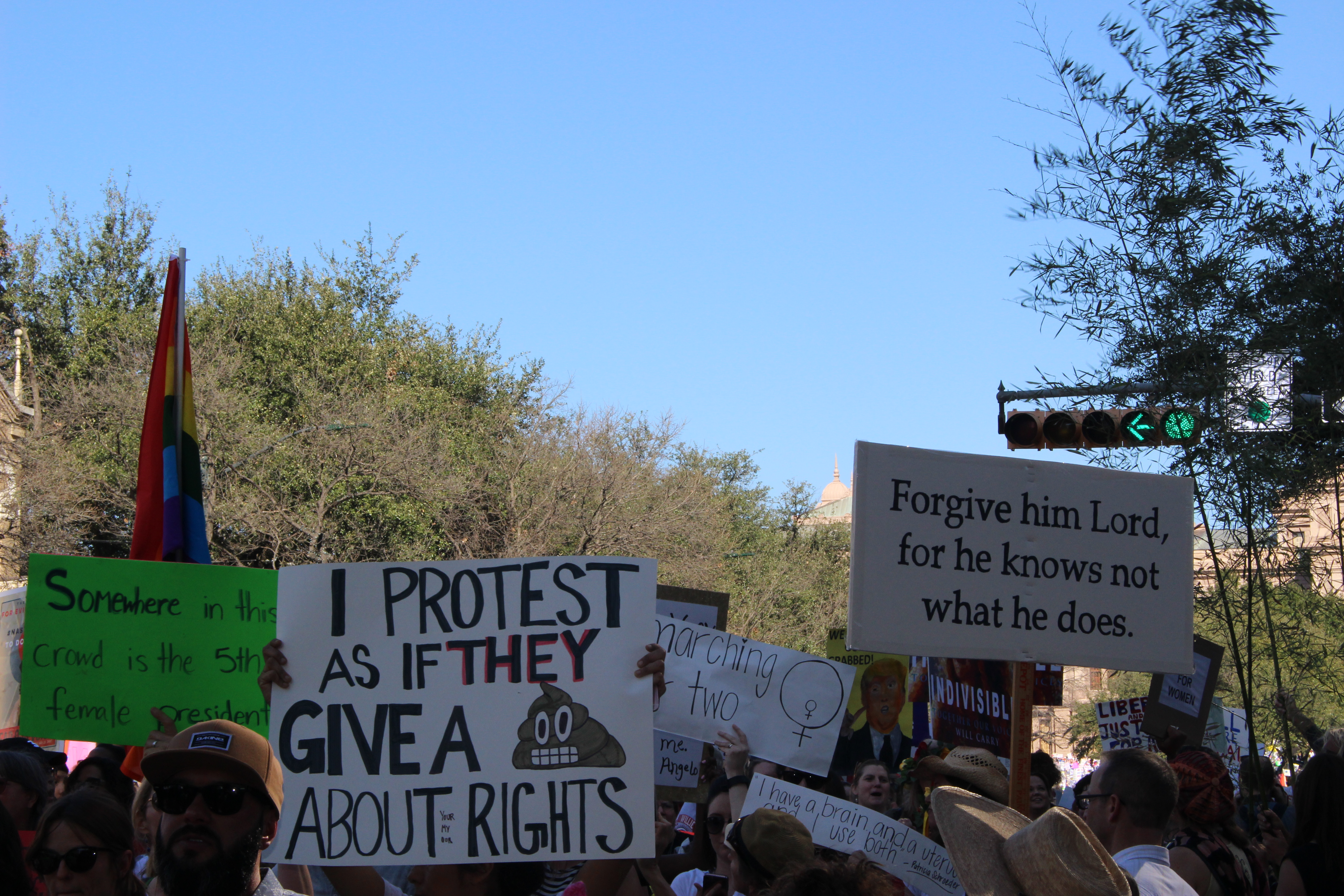 Women's March in Austin, Texas on January 21, 2017 // Taylor Gantt