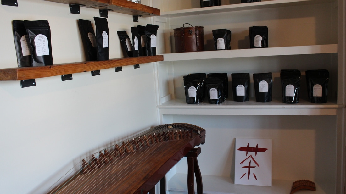 Bags and bags of tea for sell at the shop // Mackenzie Palme
