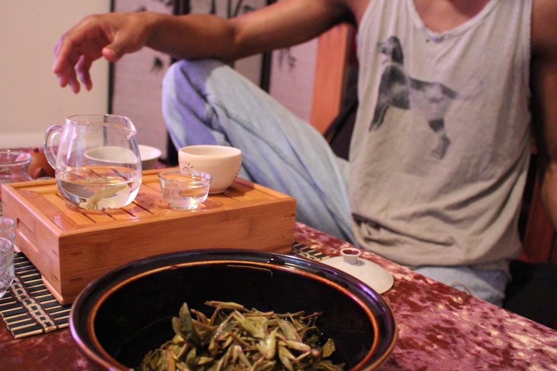 Montsho pouring tea // Mackenzie Palmer
