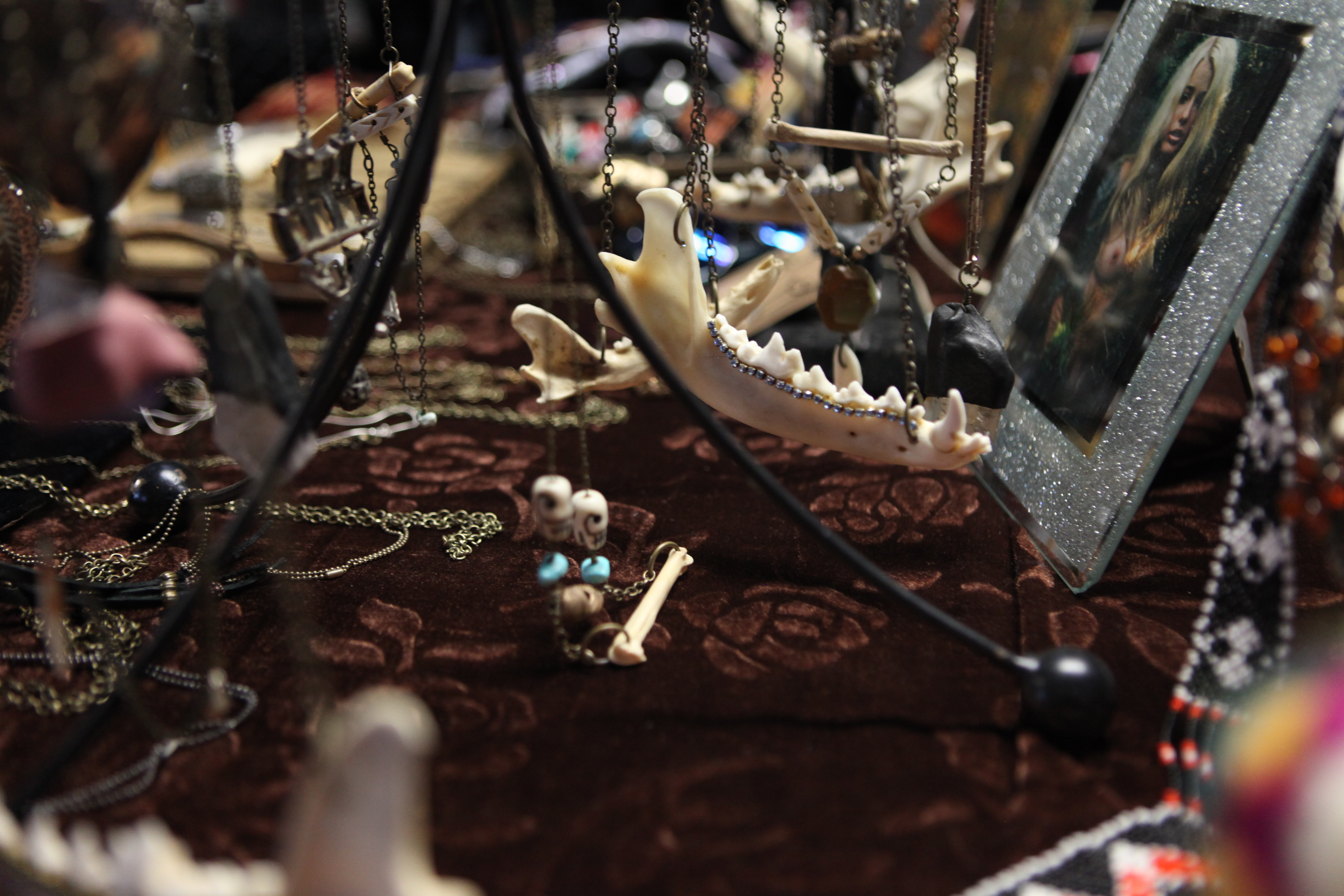 Hand made jerwlery at The Witches Market